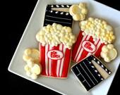Hand Decorated Sugar Cookies Movie Night // 1 Dozen // Popcorn