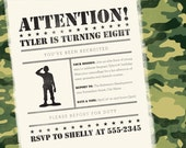 Green Army Man Birthday Invitation & Party Pack // DIY Printable Invite
