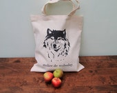 Wolf Tote Bag by Atelier de Wolvelay