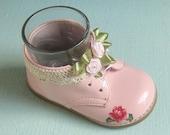 Shabby Chic Pink Baby Shoe Holder