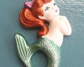 Vintage  Mermaid Plaque
