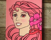 Sale- Pretty in Pink Fairytale Princess - Art work Painting on Canvas