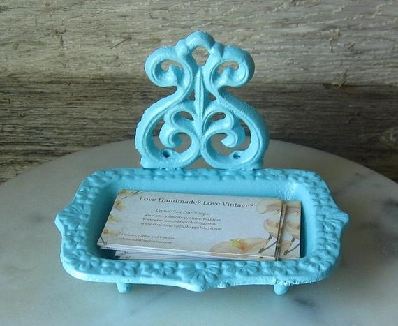 Cast Iron  Business  Card Holder/ Soap Dish