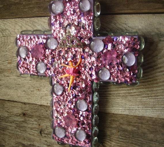 Handmade Ballerina Princess Lilac Cross