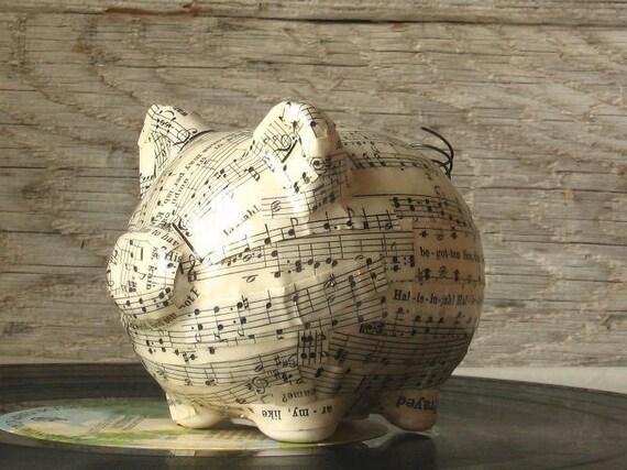 Music Ceramic Piggy Art