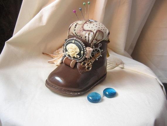 Baby Shoe  Pirate Pincushion