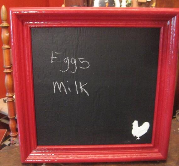 Farm House/ Handmade Rooster Chalkboard/ Wall Decor/ Office/ Back to School/ Barn/ Kitchen