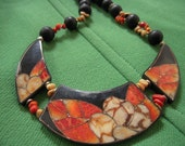 Handcrafted Boho Flower Power Necklace