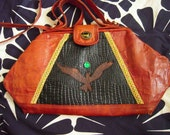 Phoenix Rising Genuine Leather Handbag