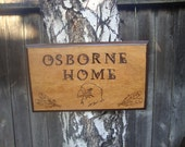 custom wood plaque made to order