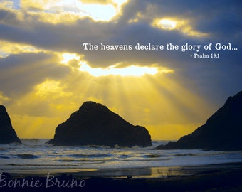 The Heavens Declare - 8x10 Fine Art Photo Print - oregon coast photography - affordable home decor