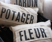 Original...Petit French Farmhouse Pillows - Black
