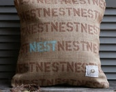 As seen in Better Homes and Gardens...Feather Your Nest Pillow Cover 16 x 16