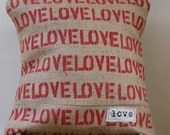 Celebrate your LOVE Burlap Pillow Cover