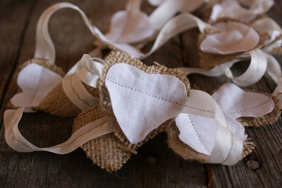 ORIGINAL Miniature Burlap and Linen Banner