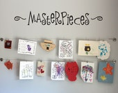 Masterpieces Wall Decal - Children Artwork Display Decal Sticker - Masterpieces Wall Art - Large