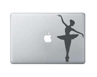 Ballerina Laptop Decal - Dancer Macbook Decal - Ballet Laptop Art