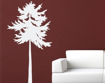 Fir Tree Wall Decal - Tree Decor - Nature Wall Art