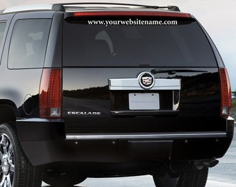 Car Decal Advertising - Advertise your website on your Car, SUV or Truck