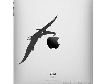 Pterodactyl iPad Decal Dinosaur - Apple iPad decal - Dinosaur tablet sticker