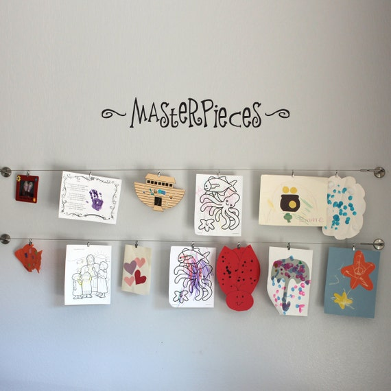 Masterpieces Wall Decal - Children Artwork Display Decal - Kid Decal - Medium