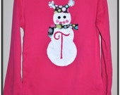 Snowgirl Applique Shirt Reserve Listing for Crystal