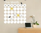 Daily Dot Dry Erase Wall Calendar - Vinyl Wall Decal