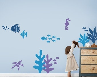 Under the Sea Wall Decal Collection - Stylish Baby Nursery Wall Stickers
