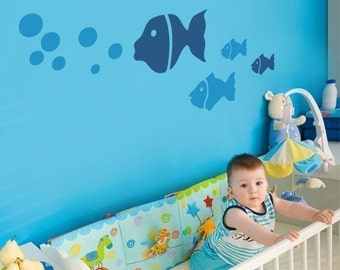 Fish Family - Children's Vinyl Wall Sticker