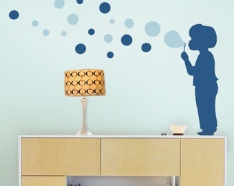 Bubble Boy Decal - Children's Vinyl Wall Sticker