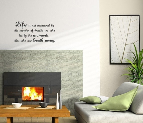 Life Breaths Quote Decal - Vinyl Wall Sticker