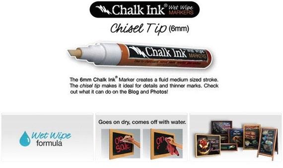 Chalk Ink - Chalkboard Marker - White 6mm