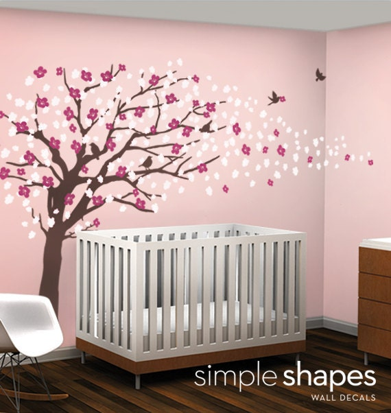 Wall Art Decals Cherry Blossom : Vinyl wall art decal sticker cherry blossom tree by