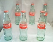 SET of 3 of Retro Coca-Cola bottles