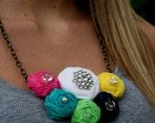 Shabby Rosette Necklace