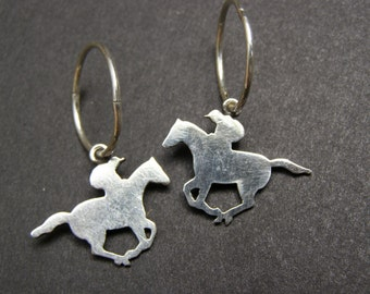 A Day AT The Races 2 Horse earrings