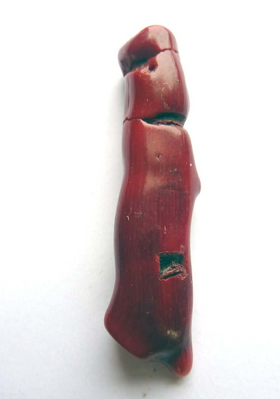 Red Coral Freeform Focal Bead