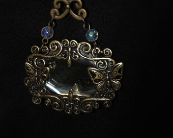Vintage Mirror Necklace -Great Holiday Gift-
