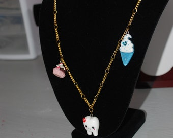 Sweet Tooth and Treats Necklace -Great Holiday Gift-