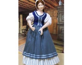 Kit, Tudor Wench doll,  12th scale dolls house doll to dress, all materials, instructions and porcelain doll