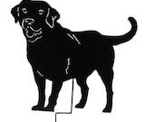 Labrador Retriever Garden Stake or Wall Hanging / Memorial / Black Lab / Yellow Lab Garden / Metal / Rusty / Lawn Ornament / Yard / Outdoor