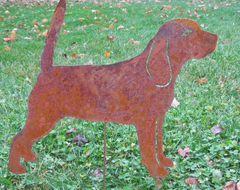 Beagle Garden Stake or Wall Hanging / Pet Memorial / Garden Art / Garden Decor / Yard Art / Lawn Ornament / Metal / Dog / Silhouette