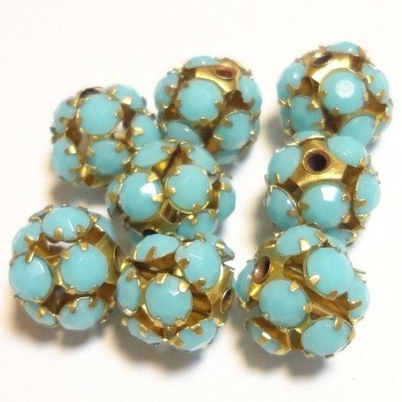 10pcs Vintage Style Opaque Turquoise Beads 10mm