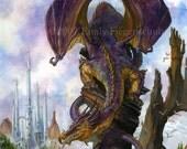 Purple Dragon's Perch Print