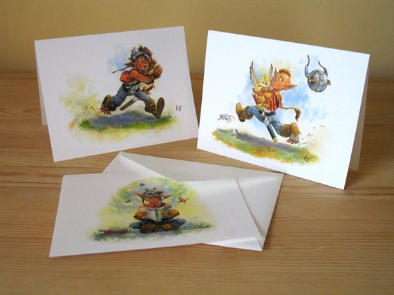 Goblin Kid Note Cards