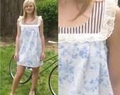 30% off SALE...Baby Doll Sun Dress s/m/l --VINTAGE FABRIC--