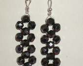 Iridescent black earrings
