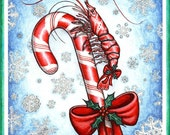 Peppermint Shrimp Holiday Card