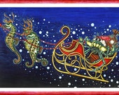 Santa Claws' Sleigh Greeting Card
