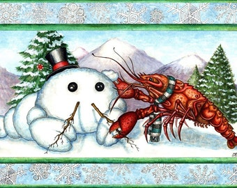 Snowlobster Greeting Card